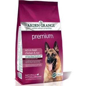 Сухой корм ARDEN GRANGE Adult Dog Premium Hypoallergenic Rich in Fresh Chicken &Rice гипоалергенный с курицей и рисом для взрослых собак 12кг (AG608343) цена