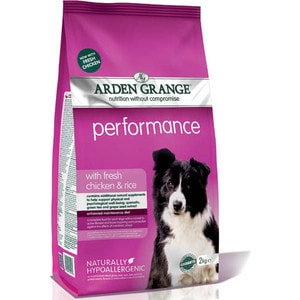 Сухой корм ARDEN GRANGE Adult Dog Performance Hypoallergenic with Fresh Chicken&Rice гипоалергенный с курицей и рисом для собак 15кг (AG609166)