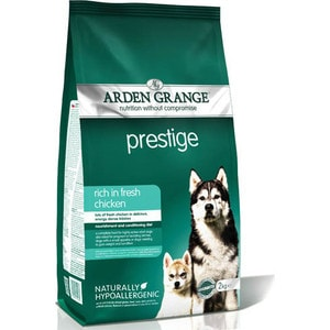 Сухой корм ARDEN GRANGE Adult Dog Prestige Hypoallergenic Rich in Fresh Chicken гипоалергенный с курицей для взрослых собак 2кг (AG610285) сухой корм royal canin hypoallergenic dr21 canine диета при пищевой аллергии для собак 2кг 602020