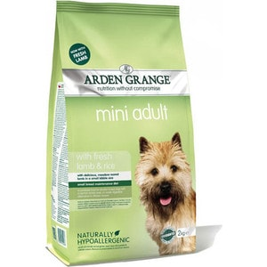 Сухой корм ARDEN GRANGE Adult Dog Mini Hypoallergenic with Fresh Lamb&Rice с ягненком и рисом для взрослых собак мелких пород 2кг (AG622288) цена