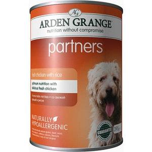 Консервы ARDEN GRANGE Adult Dog Partners Hypoallergenic Fresh Chicken with Rice гипоалергенный со свежей курицей и рисом для собак 395г (AG819015) yiwu partners 25mm