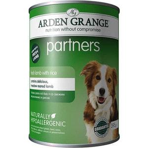 Консервы ARDEN GRANGE Adult Dog Partners Hypoallergenic Fresh Lamb with Rice гипоалергенный со свежим ягненком и рисом для собак 395г (AG820011) yiwu partners 25mm