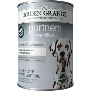 Консервы ARDEN GRANGE Adult Dog Partners Sensitive Fresh White Fish with Potato с белой рыбой и картофелем для чувствительных собак 395г (AG825016) 1 set high sensitive white door window contact magnetic reed sensor switch alarm normally opened with 4 screws