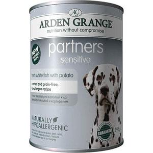 ag825016 arden grange Консервы ARDEN GRANGE Adult Dog Partners Sensitive Fresh White Fish with Potato с белой рыбой и картофелем для чувствительных собак 395г (AG825016)