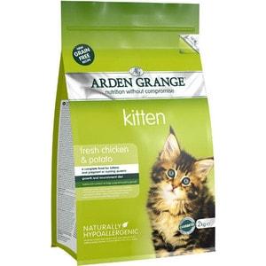 Сухой корм ARDEN GRANGE Kitten Grain Free Fresh Chicken&Potato беззерновой с курицей и картофелем для котят 2кг (AG611282) arden grange adult cat grain free fresh chicken