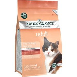 Сухой корм ARDEN GRANGE Adult Cat Grain Free Fresh Salmon&Potato беззерновой с лососем и картофелем для взрослых кошек 2кг (AG613286) now grain free
