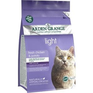 цены Сухой корм ARDEN GRANGE Adult Cat Light Grain Free Fresh Chicken&Potato беззерновой облегченный с курицей и картофелем для кошек 4кг (AG614368)