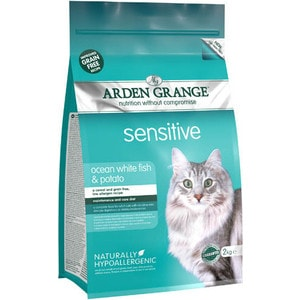Сухой корм ARDEN GRANGE Adult Cat Sensitive Grain Free Ocean White Fish&Potato беззерновой с рыбой и картофелем для чувствительных кошек 8кг (AG618403) girls and ladies favorite white roller skates with full grain genuine leather dual lane roller skate shoes for adult skating