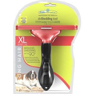 Фурминатор FURminator deShedding Tool Long Hair XL Giant Dog для длинношерстных собак гигантских пород 13см фурминатор furminator deshedding tool long hair l large cat для больших длинношерстных кошек 7см
