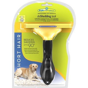 Фурминатор FURminator deShedding Tool Short Hair L Large Dog для короткошерстных собак крупных пород 10см furminator brush comb pet deshedding tool for medium dog cat