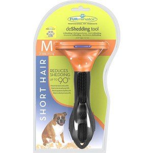 Фурминатор FURminator deShedding Tool Short Hair M Medium Dog для короткошерстных собак средних пород 7см furminator brush comb pet deshedding tool for medium dog cat