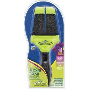 Пуходерка FURminator Slicker Brush Small Firm маленькая жесткая двухсторонняя зубцы 15мм расческа furminator small finishing comb маленькая с вращающимися зубцами 20мм