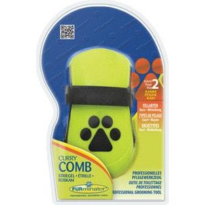Расческа FURminator Curry Comb резиновая зубцы 5мм расческа furminator small finishing comb маленькая с вращающимися зубцами 20мм