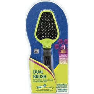 Щетка FURminator Dual Brush двухсторонняя зубцы 12мм щетка 1 all systems pin brush small овальная малая зубцы 35мм для средней и длинной шерсти животных