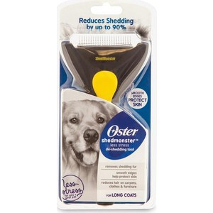 Фурминатор Oster deShedding Tool Shedmonster Less Stress for Long Coats для длинношерстных собак