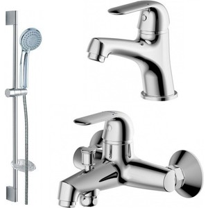 Комплект для ванной комнаты Bravat Simple 3 в 1 (F00316C) россия 00316 4 зеркало с ручкой хвбмосква