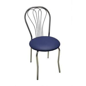 Стул Союз мебель Венус каркас хром экокожа синяя 2 шт мягкая мебель каркас хром к з черный 478754 шатура erest link