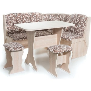 Набор мебели для кухни Бител ''ОРХИДЕЯ'' - однотон (ясень, замша 623, ясень)