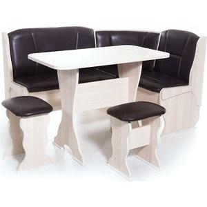 Набор мебели для кухни Бител Орхидея - однотонный (ясень, Борнео умбер, ясень) набор мебели для кухни бител орхидея однотонный венге борнео умбер венге