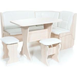 Набор мебели для кухни Бител Орхидея - однотонный (ясень, Борнео милк, ясень)