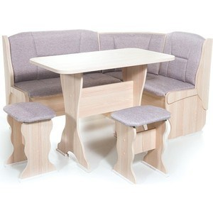 Набор мебели для кухни Бител ОРХИДЕЯ - однотон (ясень, ТР-1 Тринити беж, ясень)