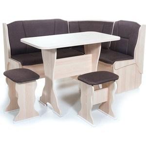 Набор мебели для кухни Бител ''ОРХИДЕЯ'' - однотон (ясень, ТР-2 Тринити шоколад, ясень)