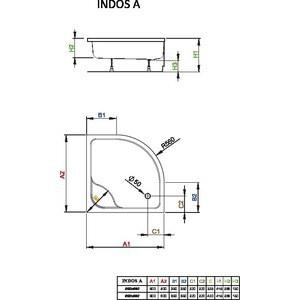Душевой поддон Radaway Indos A, 80x80, SIA8080-01 душевой поддон radaway delos a 80x80 sda0808 01