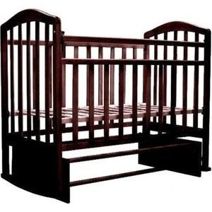 Кровать детская Антел Алита (3) а/с, маятник поперечного качания, без ящика, качалка махагон Алита-3 махагон лаура 3 маятник поперечный без ящика махагон