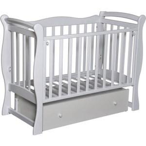 Фотография товара кровать детская Антел Северянка 1 автостенка, ящик, маятник поперечного качания (белая) Северянка 1_белая (672566)