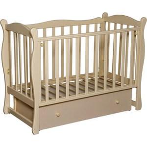 Фотография товара кровать детская Антел Северянка 2 автостенка, ящик, маятник поперечного качания (слоновая кость) Северянка 2_слк (672570)