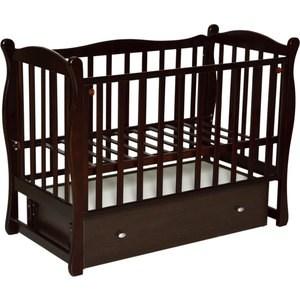 Фотография товара кровать детская Антел Северянка 2 автостенка, ящик, маятник поперечного качания (шоколад) Северянка 2_шоколад (672571)