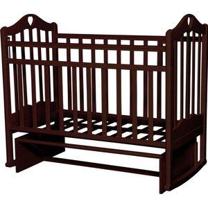 Кровать детская Антел Каролина (3) автоспуск-кнопка, маятник (поперечного качания), качалка махагон Каролина-3 махагон кроватка антел каролина 6 махагон