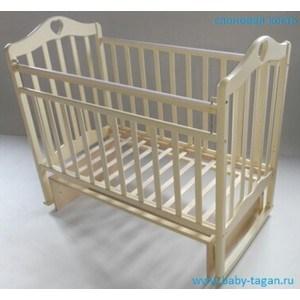 Кровать детская Антел Каролина (3) автоспуск-кнопка, маятник (поперечного качания), качалка слоновая кос Каролина-3 слоновая кость кроватка антел каролина 5 слоновая кость
