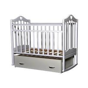 Кровать детская Антел Каролина (4), маятник поперечного качания, закрытый ящик белый Каролина-4 белый агат кровать детская золушка 4 попер маятник откр ящик вишня