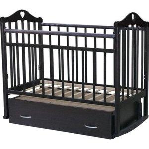 Кровать детская Антел Каролина (4), маятник поперечного качания, закрытый ящик венге Каролина-4 венге агат кровать детская золушка 4 попер маятник откр ящик вишня