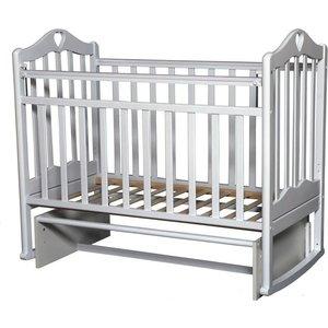 Кровать детская Антел Каролина (5) автоспуск-кнопка, маятник (продольного качания) белый Каролина-5 белый