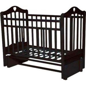 Кровать детская Антел Каролина (5) автоспуск-кнопка, маятник (продольного качания) венге Каролина-5 венге кровать детская антел каролина 6 маятник продольного качания закрытый ящик орех каролина 6 орех