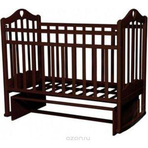 Кровать детская Антел Каролина (5) автоспуск-кнопка, маятник (продольного качания) махагон Каролина-5 махагон кровать детская антел каролина 6 маятник продольного качания закрытый ящик орех каролина 6 орех