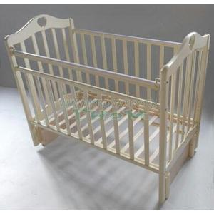 Кровать детская Антел Каролина (5) автоспуск-кнопка, маятник (продольного качания) слоновая кость Каролина-5 слоновая кость кровать детская антел каролина 6 маятник продольного качания закрытый ящик орех каролина 6 орех