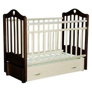 Кровать детская Антел Каролина (6), маятник (продольного качания), закрытый ящик венге-слоновая кость Каролина-6 венге-сл.кость кроватка антел каролина 5 слоновая кость