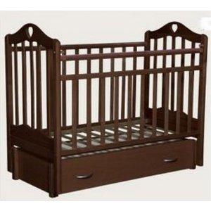Кровать детская Антел Каролина (6), маятник (продольного качания), закрытый ящик махагон Каролина-6 махагон кроватка антел каролина 6 махагон