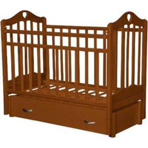 Кровать детская Антел Каролина (6), маятник (продольного качания), закрытый ящик орех Каролина-6 орех кроватка антел каролина 6 махагон