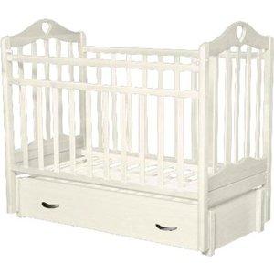 Кровать детская Антел Каролина (6), маятник (продольного качания), закрытый ящик слоновая кость Каролина-6 слоновая кость