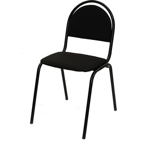 Стул Союз мебель СМ 8 каркас черный ткань черная 2 шт