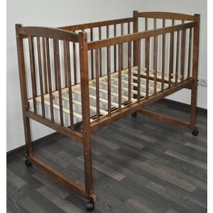 Кроватка Массив колесо качалка Беби цвет орех детские кроватки ивашка мой малыш 5 колесо качалка
