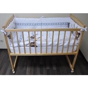 Кроватка Массив колесо качалка Беби цвет светлый кроватка уренский леспромхоз заюшка колесо и качалка цвет натуральный