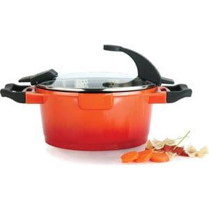 Кастрюля с крышкой 24 см 4.6 л BergHOFF Virgo Orange (2304902) кастрюля с крышкой 20 см 2 7 л berghoff virgo orange 2304901