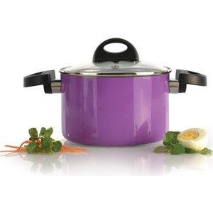 Кастрюля с крышкой 16 см 2 л BergHOFF Eclipse фиолетовая (3700144) бутылка 0 4 л asobu ice t 2 go фиолетовая it2go violet