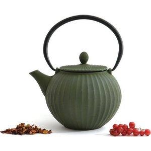 Заварочный чайник чугунный 1.3 л BergHOFF Studio зеленый (1107118) набор чашек 2 предмета 0 2 л berghoff studio лаймовые 1106840