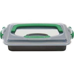 Противень прямоугольный BergHOFF с крышкой и инструментом для нарезания 36x27x5 Perfect Slice Perfect Slice (1100052) форма для выпечки berghoff perfect slice круглая с инструментом для нарезания диаметр 22 см